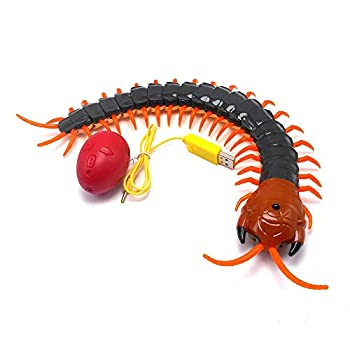 Tipmant Simulation Large Size RC Centipede Scolopendra Infrared Remote Control Animal Vehicle Car Insect Electric Toy Kids  Navy Green