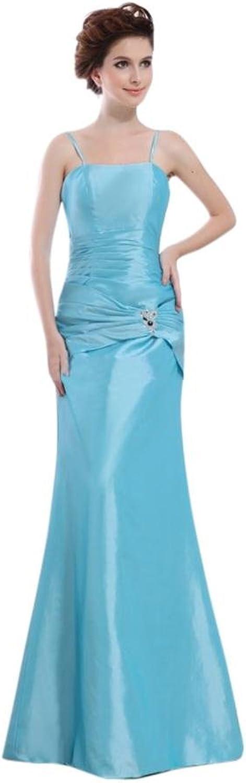 Scarlett Women's bluee Aline Taffeta Wedding Evening Prom Dress