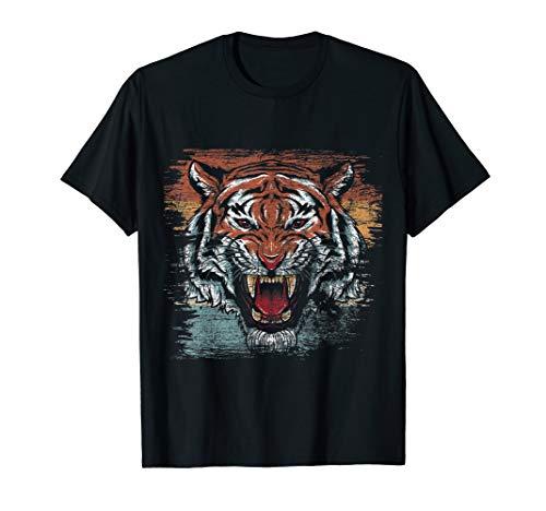 Katze Tiermotiv Geschenk Katzen Tiger T-Shirt