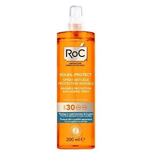 RoC Soleil Protexion Plus Invisible Protection Anti-Ageing Spray con SPF 30, 150 ml