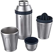 Premium Cocktail Shaker Set, 5 in 1 Cocktail Shaker Barware Set in Gift Box with Lemon Squeezer and Great Recipe Book