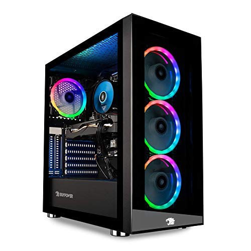 iBUYPOWER Gaming PC Computer Desktop Element MR 9320 (Intel i7-10700F 2.9GHz, NVIDIA GTX 1660 Ti 6GB, 16GB DDR4 RAM, 240GB SSD, 1TB HDD, Wi-Fi ready, Windows 10 Home) Michigan
