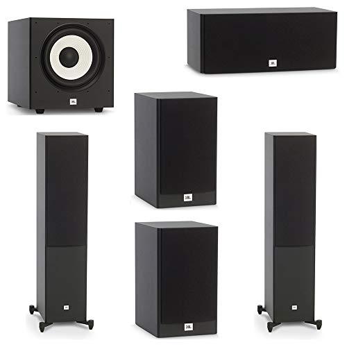 Find Bargain JBL 5.1 System with 2 JBL Stage A180 Floorstanding Speakers, 1 JBL Stage A125C Center S...