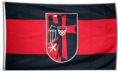 Flagge Sudetenland mit Wappen - 90 x 150 cm