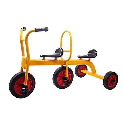 DYB Triciclos para niños, Triciclo para niños, Triciclo para niños, Asientos Dobles para Gemelos, Cochecito de 3 Ruedas para bebés, diseño Retro, Triciclo con Ruedas de Goma