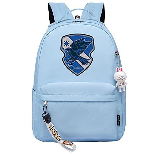MMZ Mochila, mochila escolar, de viaje o de trabajo con funda para tableta, mochila informal para niños, Ravenclaw (azul)