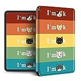 Funda Para Kindle - Con Funda Inteligente De Activación Automática Para Todos Los Nuevos Kindle Paperwhite 1/2/3/4 Cute Cat Print Cover Para Kindle Oasis (Versión 2017/2019), Estilo 1, Para Kind