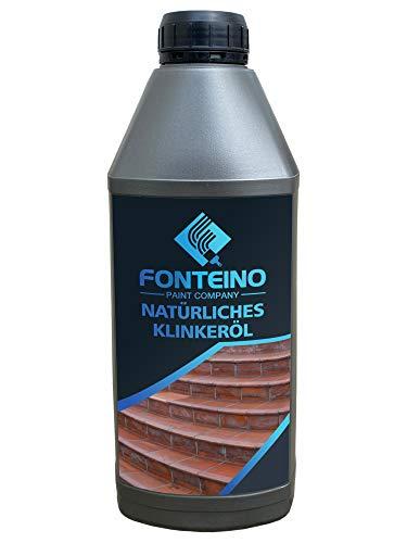 Natürliches Klinkeröl - Ziegel Klinker Cotto Ton Stein Öl - Innen und Außen - geruchsarm & lösemittelfrei 1L