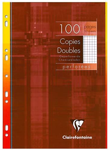 Clairefontaine 47222 °C fogli a quadretti con margine, formato A4, 50 fogli