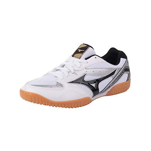 Mizuno CROSSMATCH PLIO RX4, Zapatos para Tenis de Mesa Unisex Adulto, White/Black/Silver, 45 EU