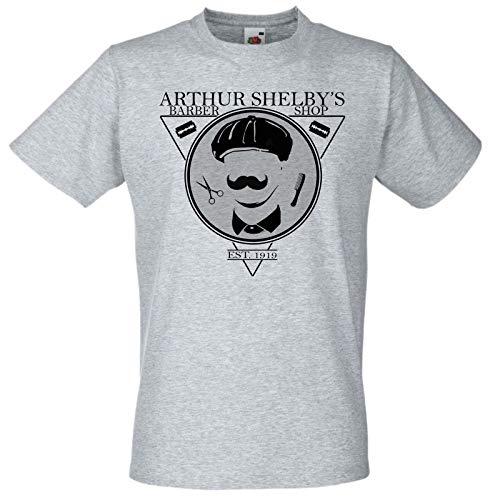 Grey Arthur Shelby's Barber Shop Gang T-Shirt Birmingham Peaky Tshirt Fan Art