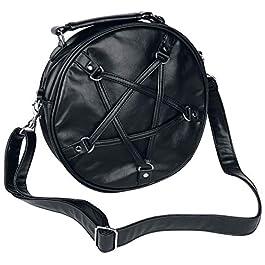 Banned Alternative Big Pentagram Femme Sac à Main Noir, 100% Polyuréthane,