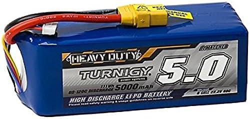 Turnigy Heavy Duty 5000mAh 6S 60C Lipo Pack w XT-90