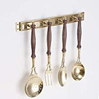 (JIN580-PB)(カトラリ壁ビス) イタリア製 真鍮壁面装飾カトラリー レストラン バー ケーキ屋さん(壁掛け真鍮スプーンナイフ)