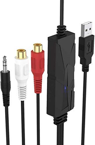 DriverGenius USB 2.0 Audio Grabber - Digital Audio Capture Card /Kassette MP3 Konverter/CD Mp3 Recorder - für FM Radio,Boombox,Minidisc,Kassetten Digitalisieren