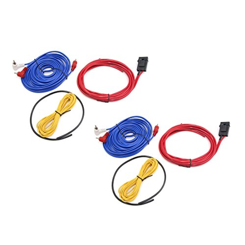 For Sale! uxcell 2Pcs 14 GA Car Audio System RCA Power Control Speaker Amplifier Cable Wire Kit
