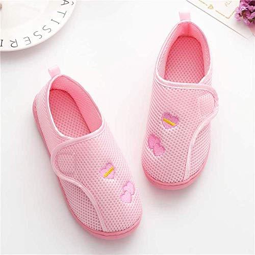 Touch Close Strap Easy Close Boot Slipper,Postpartum tas met lente en herfst schoenen met zachte zolen-40_Mesh gesp-roze,Plantar Fasciitis sneakers Air Shoe