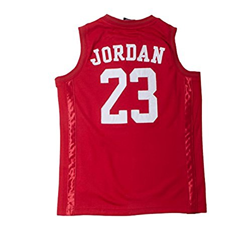 Nike Jordan Boy's Youth Classic Mesh Jersey Shirt (Red, S(8-10YRS))