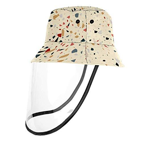 MUMIMI - Sombrero de verano plegable con diseño de baldosas de terraza abstracta con patrón de pescador, anti rayos UV Multicolor multicolor Large