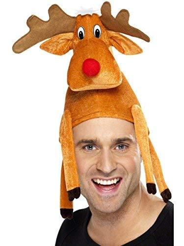 3 X Adult Xmas Reindeer Hat