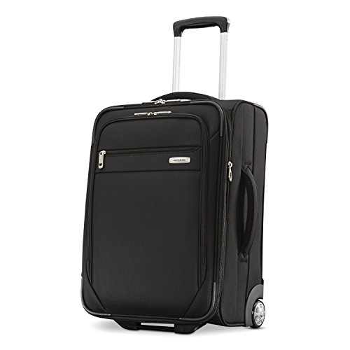 Samsonite Advena Softside Expandable Upright Luggage, Black, Carry-On 21-Inch
