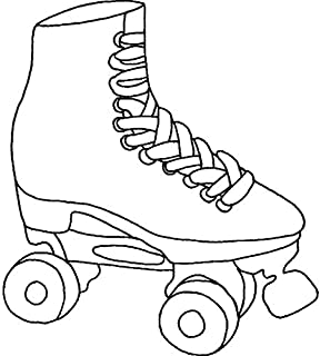 Azeeda A8 'Rollerskate' Unmounted Rubber Stamp (RS00028081)