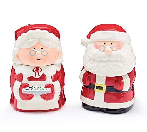 burton burton servewares burton+BURTON Santa and Mrs Claus Ceramic Candy Dish