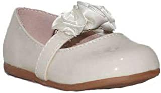 06cf497c BUBBLE BOBBLE Bailarinas con Flores A991 Zapatos Comunión Niña Beige  Princesa Bautizo Bodas Danza Bailarinas Merceditas