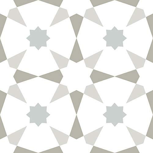 Wallpops FP2952 Stellar Peel & Stick Floor Tiles Bodenfliesen, Mehrfarbig