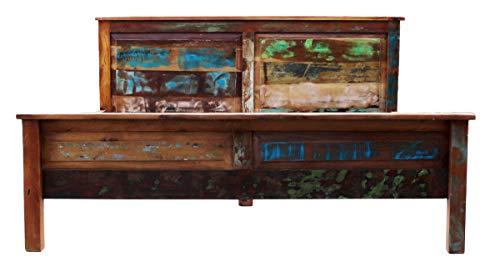 Sit Möbel Bett, Altholz mit Starken Gebrauchsspuren, Lackiert