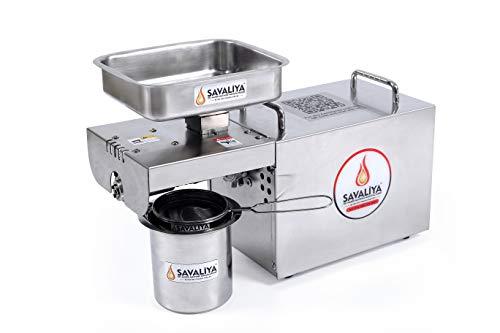 Savaliya Industries SI-702 400W Pure & Fresh Healthy Oil Maker Machine,Made in India-Silver