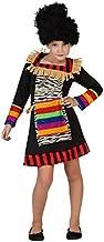 Atosa-guerrero Disfraz Zulú, color (schwarz/bunt), 3 a 4 a