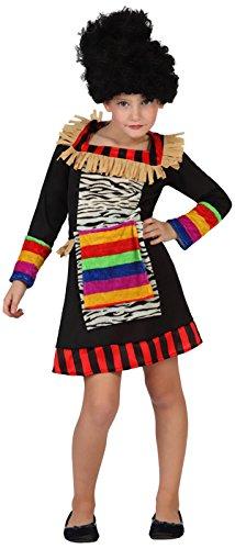 Atosa-guerrero Disfraz Zulú, color (schwarz/bunt), 3 a 4 años (23172)