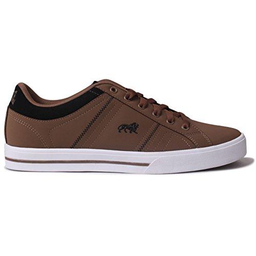 Lonsdale Herren-Sneaker/Sportschuhe/Freizeitschuhe, Obermaterial Leder, braun - braun - Größe: 46 EU