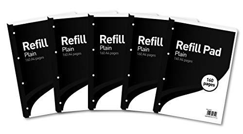 Hamelin - Blocco di fogli di ricambio, per quaderno a fogli mobili, formato A4 Pagine bianche 160 Pages