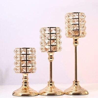 Kandelaars Voor In De Woonkamer Prachtige Scandinavische Kandelaars Ornamenten Goud Kristallen Kandelaar Tafel Kandelaars Voor Thuis Kerst Bruiloft Decor Geschenken Kandelaar Houders (Kleur: 3 Stuks)