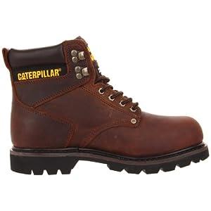 Caterpillar Men's Second Shift Steel Toe Work Boot,Dark Brown,12 M US