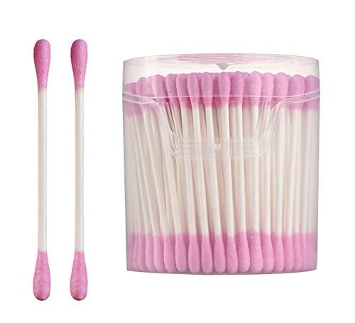 Coton-tige à double tête maison coton-tige coton-tige (200pcs) -pink
