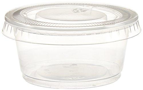 Polar Ice Einweg-Kunststoffgläser mit Deckel, 57 ml, transparent, 500 Stück