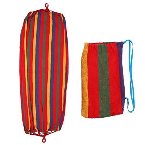 Valicclud rede de algodão para acampamento única rede de algodão brasileira cadeira de balanço para mochileiros, viagens, praia, quintal, ambientes internos e internos