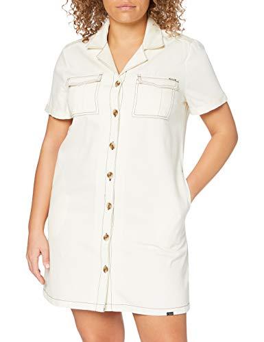 Superdry Kaya Utility Shirtdress Vestido, Blanco (Vintage White 02d), L para Mujer