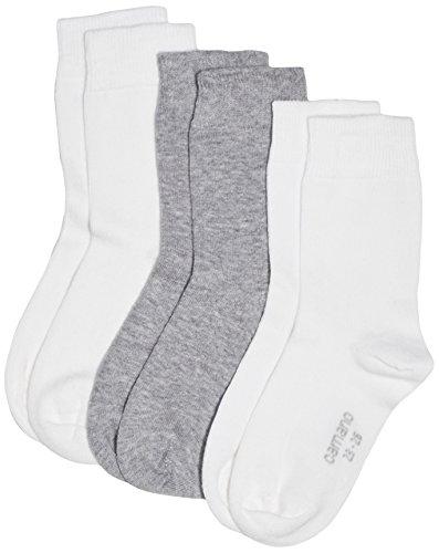 Camano Mädchen 3701 Socken, Weiß (white 1), 36 (Herstellergröße: 35/38) (3er Pack)