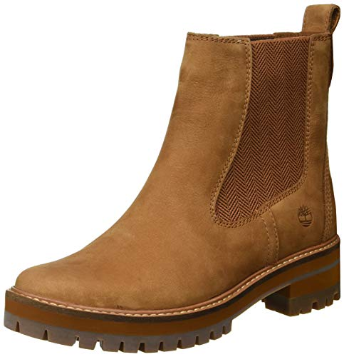 Timberland Damen Courmayeur Valley Chelsea Boots, Braun Medium Brown Nubuck, 39 EU