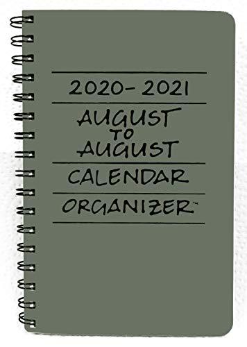 2020-2021 August to August Calendar Organizer - Slate (Blue)