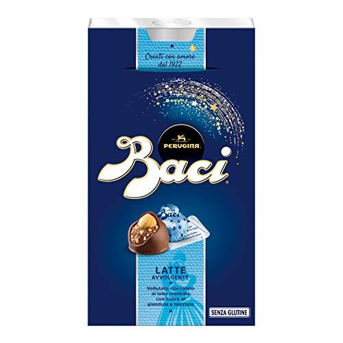 Baci Bombones Leche con Cobertura de Cacao, Relleno de Crema de Chocolate y avellanas