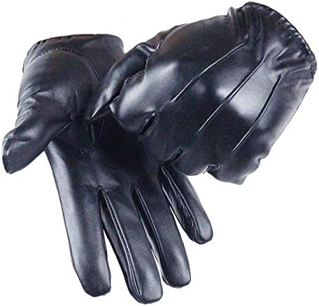 Gloves Women's Full Finger Gloves Female Pu Leather Driving Fashion Solid Winter Thick Warm for Men