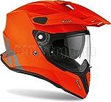 Casco de moto Airoh CM32, color naranja, mate, talla M