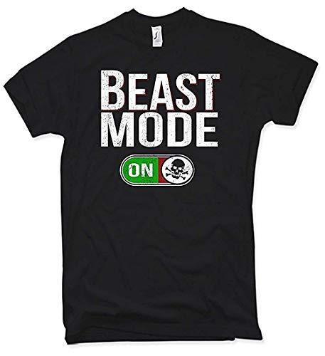 Beast Mode T-Shirt, Fitness, Skull, Gr. S - XXL