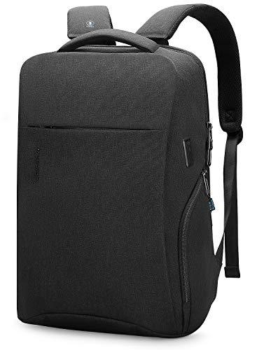 Mark Ryden Business-Laptop-Rucksack / 15,6-Zoll-Freizeitrucksack/wasserdichte Schultasche mit großer Kapazität/Diebstahlsack für Männer und Frauen mit USB-Ladeanschluss (schwarz)