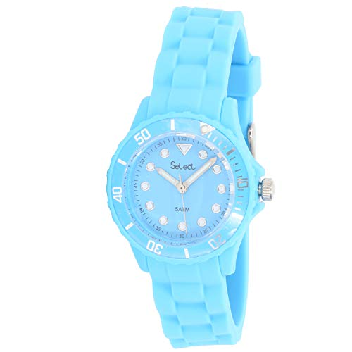 Select Lw-30-15 Reloj Analogico para Mujer Caja De Resina Esfera Color Azul